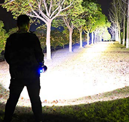 GLANDU Rechargeable Super Bright LED Handheld Spotlight